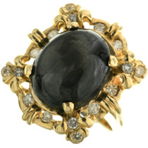 Vintage Gold Black Sapphire Ring 31494