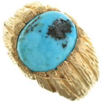 Vintage Turquoise 14K Gold Ring 31497
