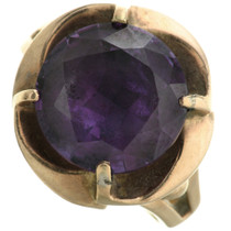 Faceted Amethyst Gold Ring 31498