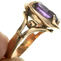 Vintage Amethyst Gold Ladies Ring 31498