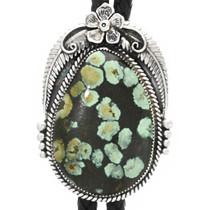 Navajo Turquoise Silver Bolo Tie 31602