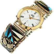 Vintage Inlaid Gold Mens Watch 31608