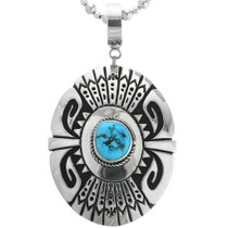 Turquoise Sterling Silver Navajo Pendant 31614
