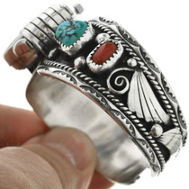 Native American Silver Turquoise Watch 31616