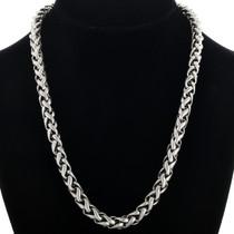 Vintage Sterling Link Necklace 31625