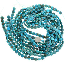 Square Cushion Turquoise Mineral Bead 30884