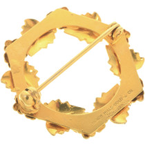 Ladies Rose and Yellow Gold Design Brooch