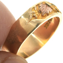 Ladies Rose and Yellow Gold Band Ring
