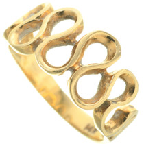 Vintage 14K Gold Infinity Style Ring Ladies