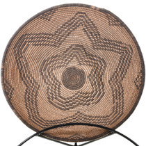 """15"""" Wide Collectible Apache Indian Basket Bowl"""