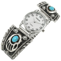 Southwest Turquoise Bear Paw Mens Watch