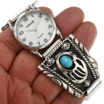 Bear Paw Mens Watch Traditional Sterling Design