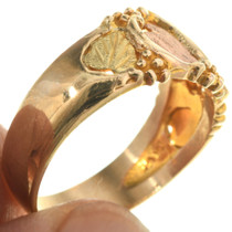 Gold Band Style Mens Ring