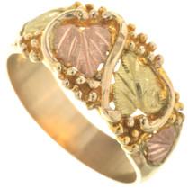 Vintage Black Hills Mens 10K Gold Ring