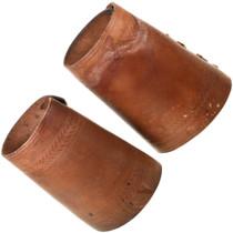 Vintage Cowboy Leather Wrist Cuffs