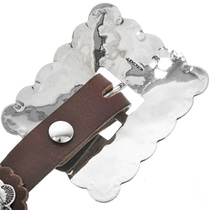 Traditional Hammered Silver Concho Belt
