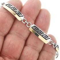 Native American Gold Silver Link Bracelet