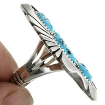 Ladies Turquoise Sterling Cluster Ring 31691