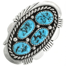 Old Pawn Style Turquoise Ladies Ring 31691