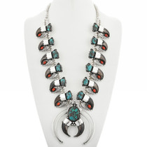 Squash Blossom Bear Claw Necklace 31704