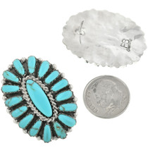 Petit Point Turquoise Cluster Earrings 31718