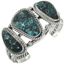 Spiderweb Turquoise Navajo Bracelet 31734