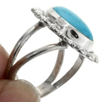 Navajo Turquoise Sterling Silver Ring 31754