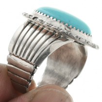 Hammered Sterling Shank Silver Ring 31759