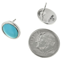 Navajo Sterling Turquoise Studs 31761