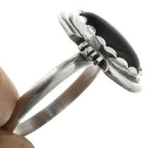 Black Onyx in Sterling Silver Navajo Ring 31763