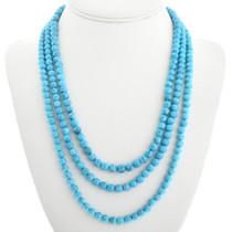Three Strand Turquoise Navajo Necklace 31765
