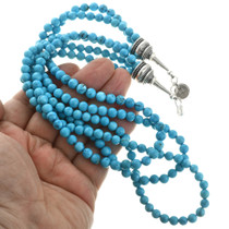Turquoise Navajo Necklace with Silver Caps 31765