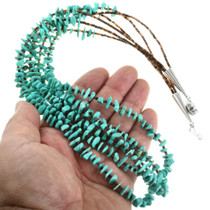 3 Strand Turquoise Beaded Necklace 31768