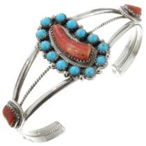 Vintage Turquoise Spiny Oyster Bracelet 31784