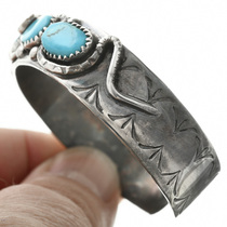 Old Pawn Zuni Turquoise Bracelet Sterling 31788