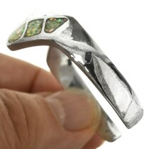 White Fire Opal Inlaid Sterling Silver Cuff 31798