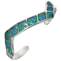 Inlaid Blue Opal Navajo Bracelet 31800