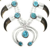 Navajo Sterling Silver Bear Claw Necklace 31808