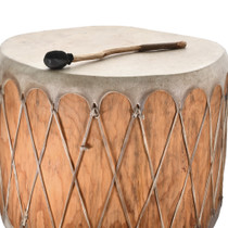 Native American Wood Log Drum 31811