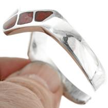 Silver Coral Cuff Lightning Zigzag Bracelet 31816