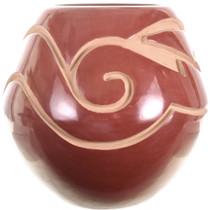 Vintage Santa Clara Avanyu Pottery Redware Jar 31812