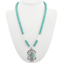 Navajo Made Silver Turquoise Pendant 31822
