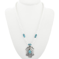 Native American Sterling Silver Pendant Necklace 31825