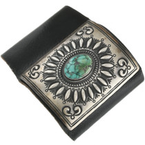 Vintage Silver Turquoise Indian Ketoh Cuff Repousse Sterling Bow Guard