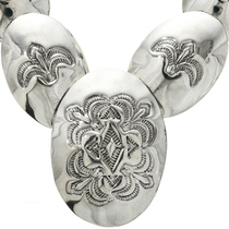 Old Pawn Navajo Overlapping Silver Necklace