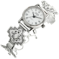 Ladies Sterling Silver Indian Cross Watch Bracelet 31841