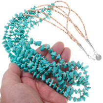 Three Strand Navajo Turquoise Heishi Necklace 31858