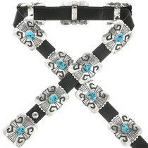 Old Pawn Sterling Turquoise Concho Belt 31861