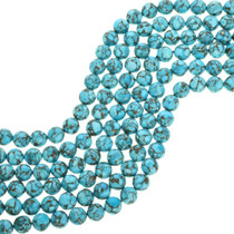 Sky Blue Spiderweb Turquoise Beads 31901