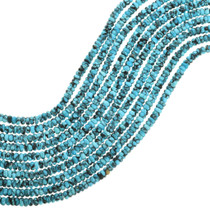 Blue Spiderweb Turquoise Rondelle Beads 31903